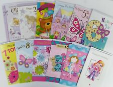 Bulk Lot of 12 Birthday Cards, 1 To 12 Years-old Girl's.Oz Stock