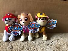 "Lot Of 3 Paw Patrol Spin Master Marshall Skye Rubble 8"" Character Plush New"