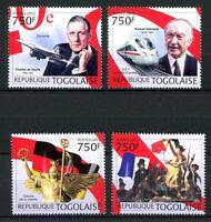 Togo MiNr. 4558-61 postfrisch MNH Adenauer, de Gaulle (O6378
