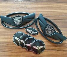 7pcs New 3D black Genesis Wing Badge Emblem For Hyundai Genesis Coupe