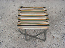 Vintage folding chair with sturdy folding metal frame