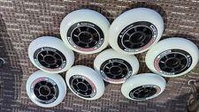 Rollerblade Hydrogen 90mm 85A Wheels, 8 Pack, White New