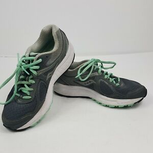 Saucony Womens Tennis Shoes Size 6 Gray Green Trim Cohesion