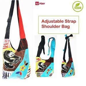New Patchwork Handmade Hippie Shoulder Bag Razorcut Boho Panda Adjustable Strap