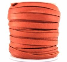 "Deerskin Deer Leather Lace Spool Roll 3/16"" 5MM DIY 50 Ft Lacing Cord Saddle Tan"