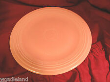 "Pink Fiesta Dinner Plate  Signed 10 1/2"" W  Post-1982 Homer Laughlin HLC"