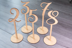 Freestanding Wooden Table Numbers Wedding Table Craft Rustic Balloon Weights