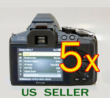5x Olympus Stylus SP-100EE Digital Camera LCD Screen Protector Guard Shield