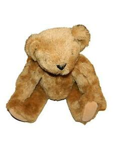"""Vermont Teddy Bear Co Light Brown Jointed Plush 12"""" Stuffed Animal"""