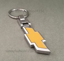 Double Side Car Emblem Key Chain Ring Metal KeyRing For Chevrolet Chevy KeyChain