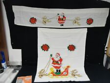 "Christmas Holiday 3 Pc. Kitchen Curtain Tier & Valance Set by Galaxy 60"" x 36"""