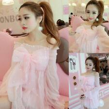 Lolita Kawaii Dolly Pink Dress Sexy Japanese Girls Cute Sweet Bowknot Princess