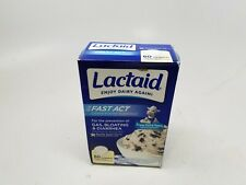 LACTAID Fast Act Chewables Vanilla Twist 60 Tablets 09/2022 DENTED
