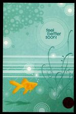 Get Well Gold Fish Bubbles Water - Feel Better Soon - Get Well Greeting Card New