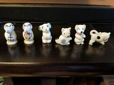 Wade England Minikins 6 Different Figurines Penguin, Bull, Bunny, Cat, Dog