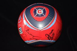 Chicago Fire Signed 2010 MLS Soccer Ball - Team Signed - 22 Signatures