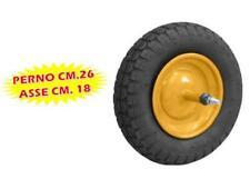 RUOTA PNEUMATICA PER CARRIOLA MISURA 3.50 PERNO CM.26 ASSE CM.
