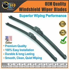 "Windshield Wiper Blades 24""+17"" J-Hook Wiper Replacement Premium Quality"