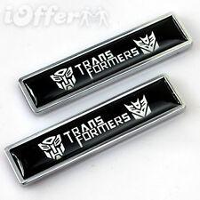Car Metal Resin Emblem Badge Transformers Autobot Decepticon x2