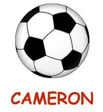 *********SOCCER BALL****  PERSONALIZED****FABRIC/T-SHIRT IRON ON TRANSFER