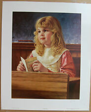 Jim Daly Dealer SECRET ADMIRER Limited Edition Art Print Children Valentines