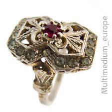Vintage Silber Ring vergoldet Glas Farbsteine silver gilt paste 🌺🌺🌺🌺🌺