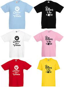 Disney Descendants T-Shirts Rotten to the Core/Chillin Like a Villain