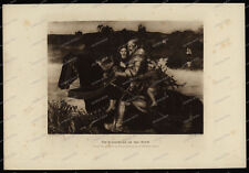 Druck-Stahlstich-Engraving-J.E.Millais-RA.Allen&Co.Sc. Isumbras at the Ford-55