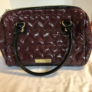 NEW Betsy Johnson Purse Purple Quilted Hearts Bag