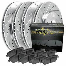 Fit 2015-2019 Volkswagen Passat HartBrakes Full Kit Brake Rotors+Ceramic Pads