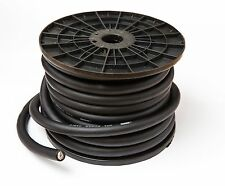 0 AWG GAUGE 65mm² OVERSIZED OFC BLACK POWER GROUND CABLE PER METRE PURE COPPER