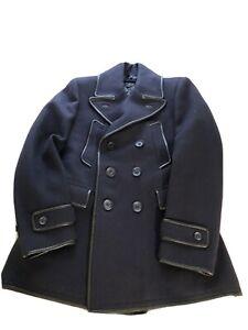 PRE-OWNED VINTAGE BURBERRY PRORSUM  SIZE 50 NAVY/BLACK MEN COAT JACKET ITALY