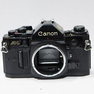 Canon A1 35mm SLR camera body, A-1 FD lens mount, all works fine