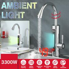 3300W 360° LED Elektrisch Durchlauferhitzer Wasserhahn Sofort Warm Küchearmatur