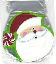 Santa Face Christmas Shaped Treat Bags with Ties form Wilton