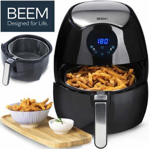 Beem 8in1 Touch Display Digitale Heißluft Fritteuse Ohne Fett Timer 3,2 Liter