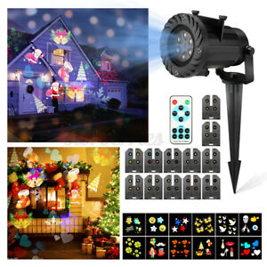12 Patterns Xmas LED Light Projector Laser Projection Praty Outdoor W/Control UK