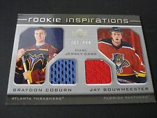 NHL ROOKIE INSPIRATION DUAL JERSEY TRADING CARD -BRAYDON COBURN /JAY BOUWMEESTER