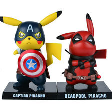 Pikachu Cosplay PVC Figure Collectible Model Toy (Captain America, Deadpool)