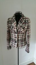 Cropped Jacket Wool Blend 10 / XS-S check jacket
