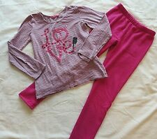 Girls Pant Lot of 2 Purple So Sweatpants Sz 10 & Carters Zebra Print Sz 12 #8584