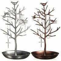 Metal Jewelry earring Display Holder Organizer Show Rack Tree Stand Vintage Top