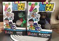 Teen Titans Go! Vinimates Nibor & Blackfire Vinyl Figure Set.