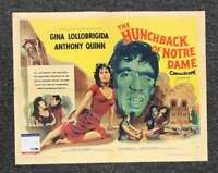 Anthony Quinn PSA DNA Signed HUNCHBACK OF NOTRE DAME 22x28 Poster Autograph