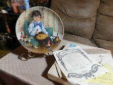 Diddle Diddle Dumpling of the Mother Goose Collector's Plate McClelland W/Coa!