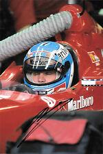 Mika Salo SIGNED, F1 Ferrari F399 , Helmet Portrait Austrian GP ,A1-Ring 1999