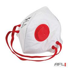 10 Pack FFP3 Respirador Doble Plana Válvula Seguridad cara máscaras de polvo - 50x protección