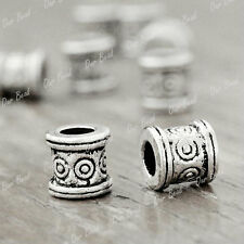 100 Tibetan Silver Bali Style Tube Spacer Beads DIY Jewelry Findings TS711