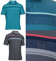 Under Armour Golf Play Off Colour Block Stripe Polo Shirt RRP£60 XL XXL UA