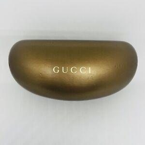 Gucci Gold Large Hard Case for Eyeglasses Rx Sunglasses Case